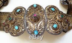 Ceinture bijou russe Russie en ARGENT massif 19e siècle silver Russia Daghestan