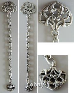 Chaine giletière chatelaine argent ART NOUVEAU Jugendstil silver chain catena