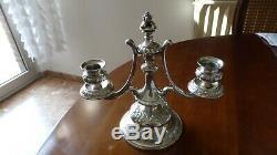 Chandelier. Bougeoir table. Argent massif. HAUPTMANN. XIXème. Silver Candlestick