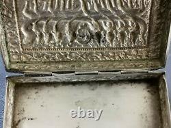 Chinese Export Silver Box Argent Massif Boite Birmanie Thailande