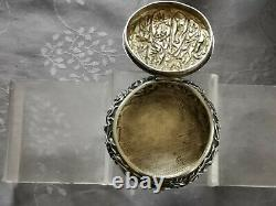 Chinese Export Silver Box Argent Massif Chine Belle Boite