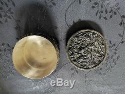 Chinese Export Silver Box Vietnam Indochine Boite Argent Massif