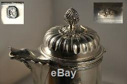 Chocolatiere Cafetiere Ancienne Argent Massif 624gr Antique Solid Silver Pot