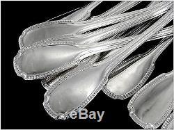 Christofle & Cardeilhac Ménagère à Poisson Sterling Silver Fish Flatware Set