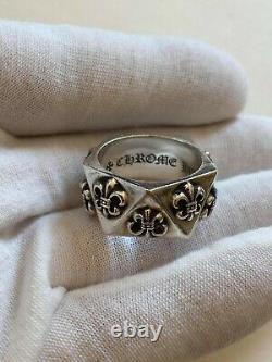 Chrome Hearts ring Pentagon Fleur de Lys US size 9, sterling silver 925
