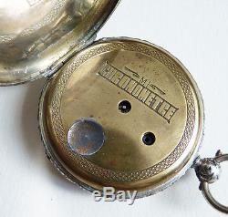 Chronomètre Montre à gousset en argent massif 19e siècle silver pocket watch