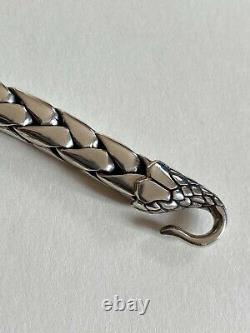 Clocks and Colours Bracelet Snake Pit Sterling Silver (argent massif) size 7.5