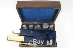 Coffret Necessaire Toilette 19eme Argent Massif Vanity Case Sterling Silver 19c