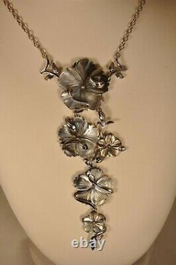 Collier Argent Massif Nacre Solid Silver Mother Of Pearl Necklace