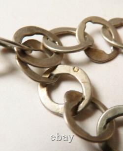 Collier ancien médaillon + chaine argent massif ethnique Tunisie silver necklace
