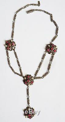 Collier argent massif + perles fines AUTRICHE HONGRIE silver necklace bijou