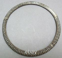 Collier torque argent massif Chine 19e s silver necklace Indochine Chinese