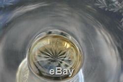 Compotier cristal et argent massif (coupe sterling silver minerve)