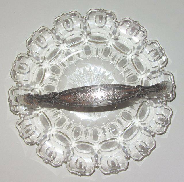 Coupe A Fruits Cristal & Argent Massif Jm Van Kempen Solid Sterling Silver Bowl