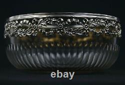 Coupe En Cristal Et Cerclage Style Louis XVI En Argent / Crystal Silver Cup Bowl