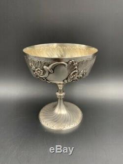Coupe à pied en argent massif Minerve XIXe / Antique silver cup