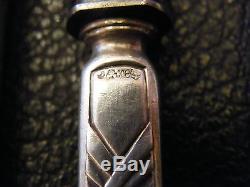 Couteaux à Dessert en Argent Massif Art Nouveau Jugendstil Silver Silber