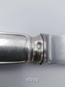 Couteaux de table argenterie Christofle argent massif minerve ménagère silver