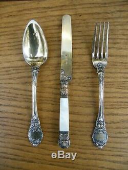 Couverts Couteau en Argent Massif Vermeil Vieillard Restauration Silver Silbe