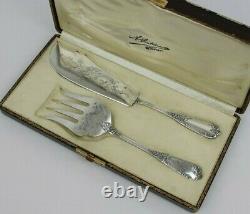 Couverts De Service À Poisson Style Louis XV En Argent / Silver Fish Cutlery