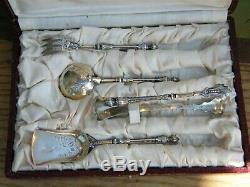 Couverts à Mignardises Manches à la Russe en Argent Massif Vermeil Silver Silber