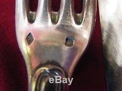 Couverts et Couteaux Manches Crosses en Argent Massif Boin Taburet Silver Silber