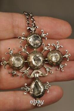 Croix Normande Ancien Argent Massif Bijou Regional Antique Solid Silver Cross 18