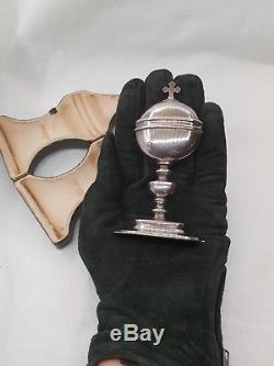 Croix TRIOULLIER ciboire custode minerve argent massif antique silver