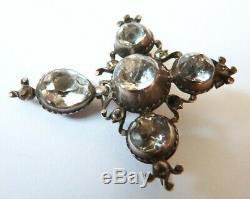 Croix normande de Saint Lo en argent massif 19e s bijou régional silver cross
