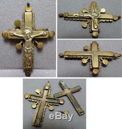 Croix reliquaire argent massif Bijou du 18e siècle Russie Armenie silver cross