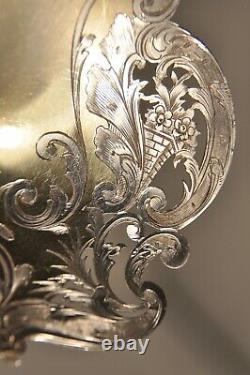 Cuillere Service Argent Massif A La Russe Antique Solid Silver Berry Spoon