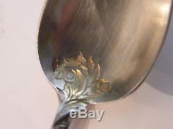 Cuillères à café finement ciselées en Argent Massif Silver Silber Louis XV