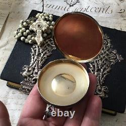 Custode Argent Massif Minerve Boîte Ostie Sterling Silver Reliquary Church Box