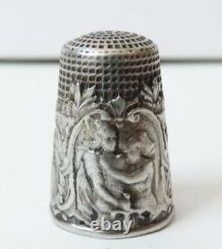 Dé à coudre Guerre 1914 Alsace argent massif silver thimble WW1 poilu soldat