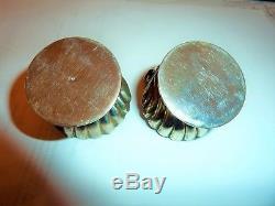 Deux Salerons Salières Argent Massif Putti Angelots Musiciens Solid Silver Salt