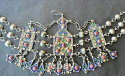 Diademe Bijou Frontal Kabyle Taasavt Argent Massif Courone Berbere Ethnic Silver