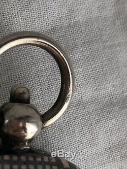 Double Porte Louis Dor En Argent Massif Niellé Silver Coin Gold Holder