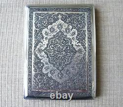 ETUI CIGARETTES ARGENT MASSIF Poinçon PERSE XIXe Sterling silver persian box