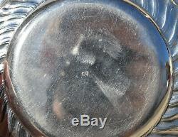 Ecuelle à oreilles couverte et son plat argent massif minerve ROCAILLE silver