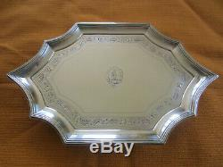 Elegant antique Georgian solid silver tea pot théière argent massif