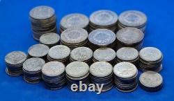 Enorme lot 3,475kg pieces de monnaies en argent massif France big silver coins