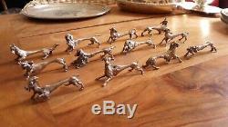 Ensemble 12 porte-couteaux argent massif animaux SILVER