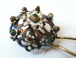 Epingle à chapeau chignon peigne ARGENT silver hat pin Austro-Hongrois hungarian
