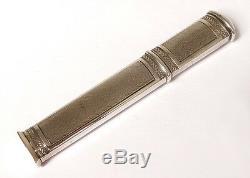 Etui à cire argent massif Minerve silver case wax 40gr XIXème siècle