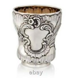 Faberge Timbale Gobelet Argent Massif 84 Rococo 1894 Tumbler Silver Beaker