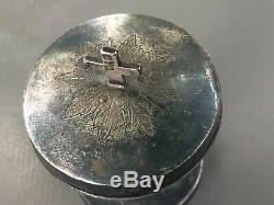 Favier Frères Orfèvre Custode Ciboire Calice Art Sacré Argent Massif XIX Silver