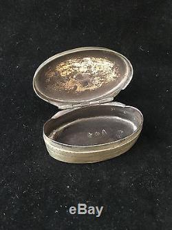 Fermiers Généraux Boîte Louis XVI Tabatière Argent Massif Box Silver XVIII