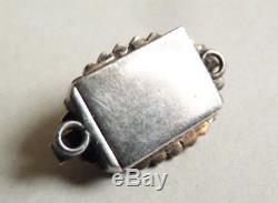 Fermoir de bracelet collier argent massif et diamants 19e siècl silver clasp