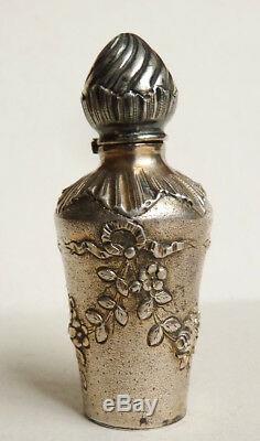 Flacon à parfum ARGENT massif 19e siècle silver scent bottle