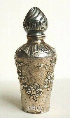 Flacon à parfum en ARGENT massif 19e siècle silver scent bottle